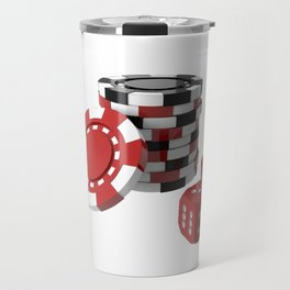 casino chips and dice Travel Mug