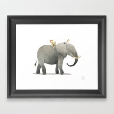 Wild Adventure - Elephant Framed Art Print