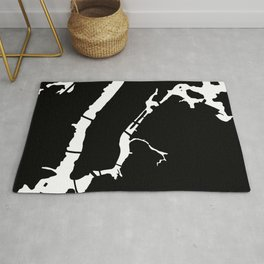 Manhattan New York NYC Minimalist Abstract in Black and White Rug