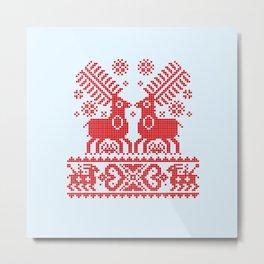 Folk Deers Metal Print