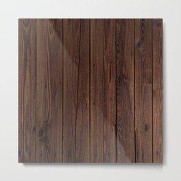 wood background Metal Print