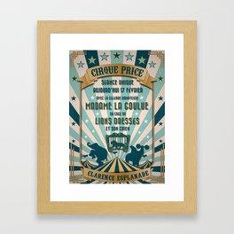 CIRQUE PRICE BLEU Framed Art Print