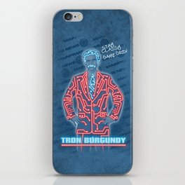 Tron Burgundy iPhone Skin
