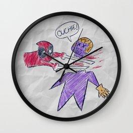 The Plan // Infinity Ouchie, Superhero Merc, Villain, Comic Doodle Wall Clock