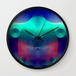 Vibrant Symmetry Oil Droplets Wall Clock