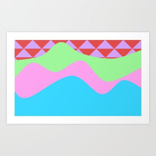 Tribal Waves Art Print