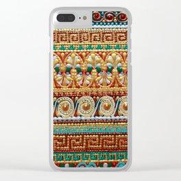 Greek pattern Clear iPhone Case
