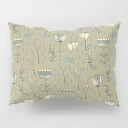 phantasie-flowers on grey Pillow Sham