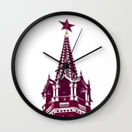 Kremlin Chimes-red Wall Clock