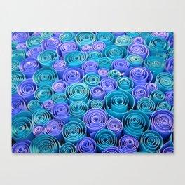 Sea of Blue Swirls Canvas Print