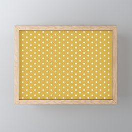 Pink Polka Mustard Framed Mini Art Print
