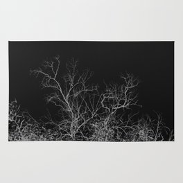 Dark night forest Rug