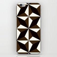 Black brown tile pattern #1 iPhone & iPod Skin