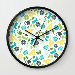 Spring Garden Print Wall Clock