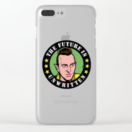 The Future Is Unwritten Clear iPhone Case
