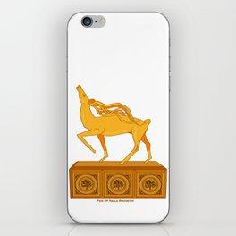Halla statuette gold iPhone Skin
