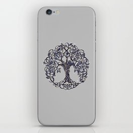 Tree of Life Silver iPhone Skin