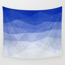 Imperial Lapis Lazuli - Triangles Minimalism Geometry Wall Tapestry