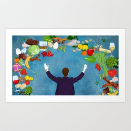 Composition of Food Art Print