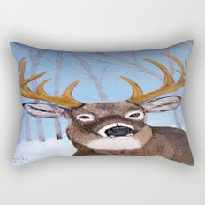 Winter Buck Rectangular Pillow