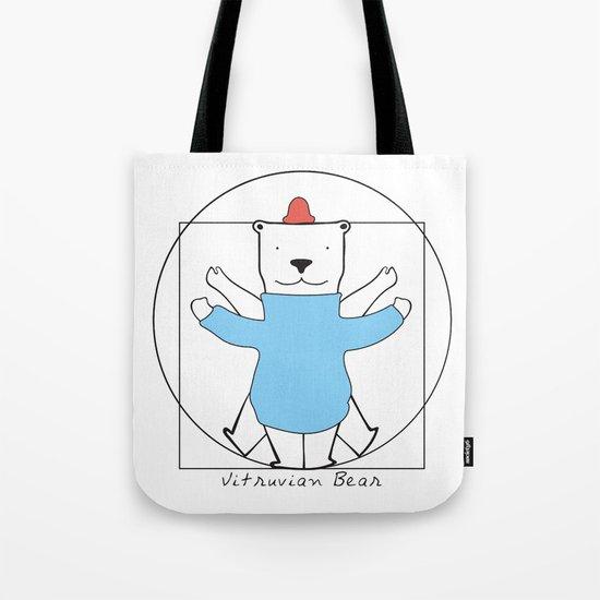 Vitruvian Bear Tote Bag