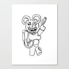 Teddy Rockin' the Flamethrower Canvas Print