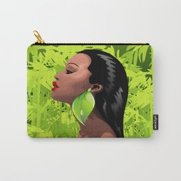 Woman African Beauty and Bamboo Carry-All Pouch