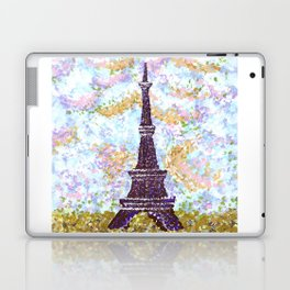 Eiffel Tower Pointillism by Kristie Hubler Laptop & iPad Skin