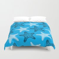 starfish Duvet Covers featuring Starfish by Dana Martin