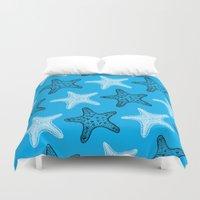 starfish Duvet Covers featuring Starfish by Dana Martin
