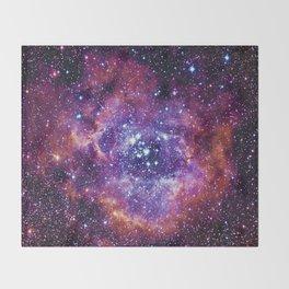 Rosette Nebula Throw Blanket