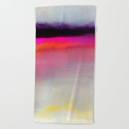 Pink Silver Beach Towel