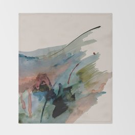 Begin again [2]: an abstract mixed media piece in a variety of colors Throw Blanket
