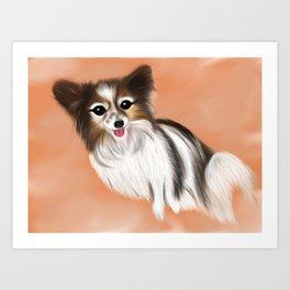 James Blonde - a Cannes celebrity papillon dog Art Print