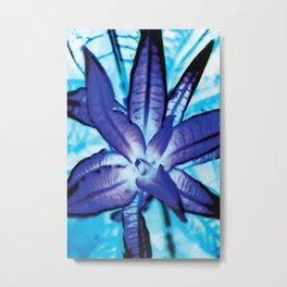 Blue leaves, 1995 Metal Print