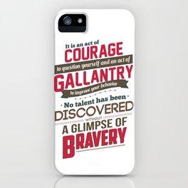 Nine Noble Virtues - Courage iPhone Case