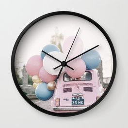 Pastel car Wall Clock