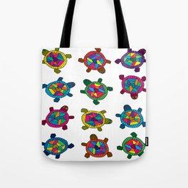 Multi Color Turtles Tote Bag
