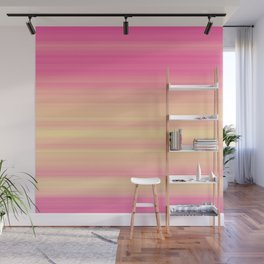 Pink Yellow Gradient Stripes Wall Mural