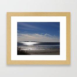 December breeze, Kure Beach Framed Art Print