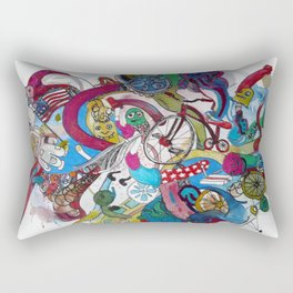 Moon Trike City Rectangular Pillow