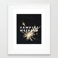 vampire weekend Framed Art Prints featuring Vampire Weekend by alboradas