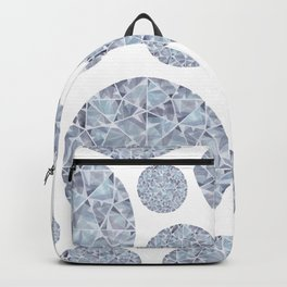 Grey Round Gem Pattern Backpack