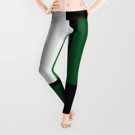 Green Mondrian Leggings