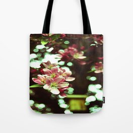 vintage flowers and birdhouse Tote Bag