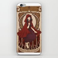 subaru iPhone & iPod Skins featuring Little Red Riding Hood by Subaru