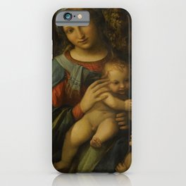 "Antonio Allegri da Correggio ""Madonna and Child with infant Saint John the Baptist"" iPhone Case"