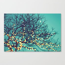 twinkle lights Canvas Print