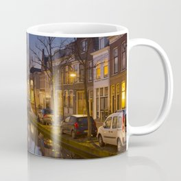 Church reflected in a canal in Delft, The Netherlands Coffee Mug