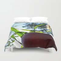 apple Duvet Covers featuring Apple by Valeria24